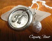 Custom Initially Yours-Freshwater Coin Pearl Necklace by Carmen Bowe