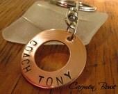 Custom Copper Eternity Keepsake Key Charm by Carmen Bowe