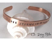 Personalized Copper Cuff Bracelet by Carmen Bowe