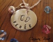 Its all about baby- custom sterling birthstone necklace by Carmen Bowe