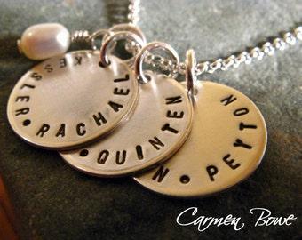 Custom Triple Brag Charm Necklace by Carmen Bowe