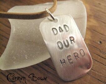 Custom Sterling Silver Dog Tag Charm by Carmen Bowe