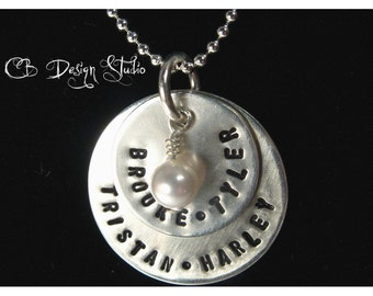 Sterling Silver Custom Duo Charm Necklace by Carmen Bowe