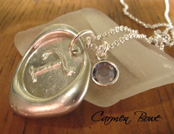 Custom Initially Yours-Crystal Necklace by Carmen Bowe