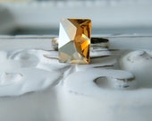 cosmic.  Golden Shadow Swarovski Cocktail Ring