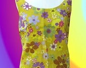 Retro Capri Pants Suit Classic 60's Flower Power
