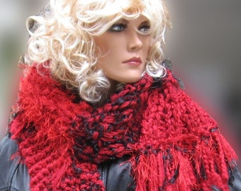 Gypsy Scarf Ravens Fire Long Chunky SALE 45% off