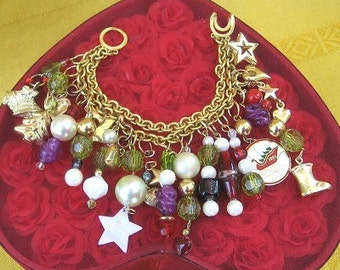 Charm Bracelet Christmas Sleigh Ride Gypsys Jewels SALE 55% off
