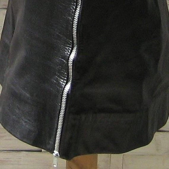 Black Leather Motorcycle Skirt