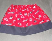 University of Georgia Bulldogs Twirl Skirt