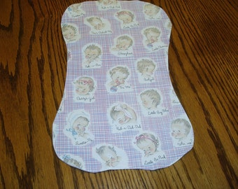 Baby Burp Cloth with Cute Baby Sayings
