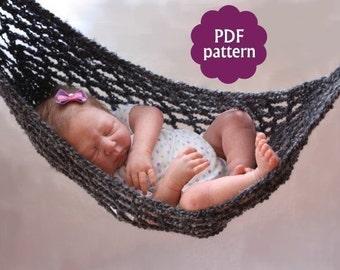 Hammock Baby Photo Prop Crochet Pattern   PDF : INSTANT DOWNLOAD  Permission granted to sell items made from this pattern