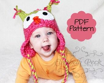 Little Owlet Hat -- Pattern for Crochet