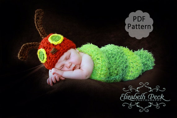 The Very Hungry Caterpillar Crochet Pattern