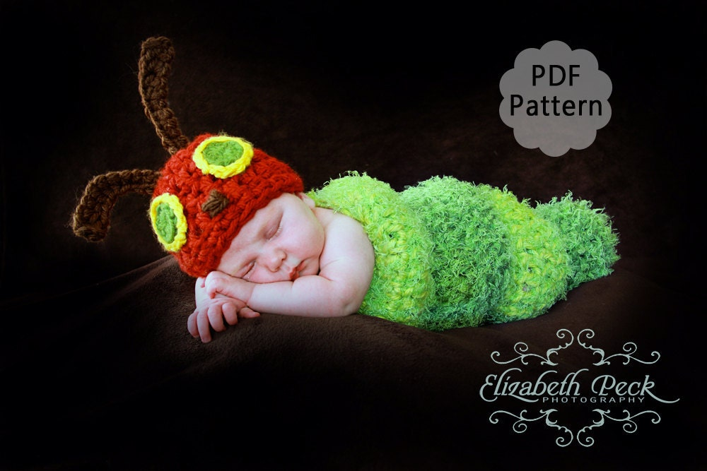 Crochet Caterpillar Hat Pattern : The Very Hungry Caterpillar Crochet Pattern