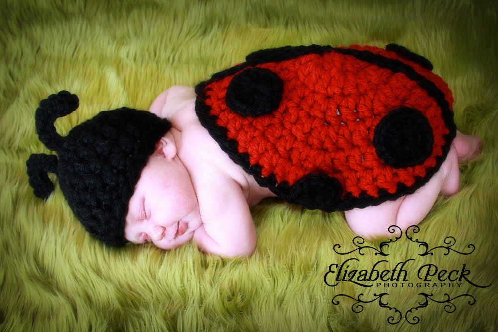 Free Crochet Ladybug Blanket Pattern : The Littlest Ladybug Crochet Pattern INSTANT DOWNLOAD