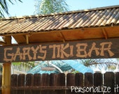 Personalized Tiki Bar Wooden Sign