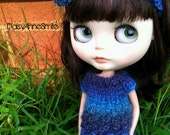 Fav 15 SALE Blythe Blue Waves Lace Knit Dress & Bow