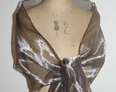 silver metallic organza wrap RESERVED FOR KIWISTORK