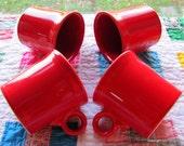 Vintage Scarlet Red Fiestaware Coffee Mug with Ring Handle