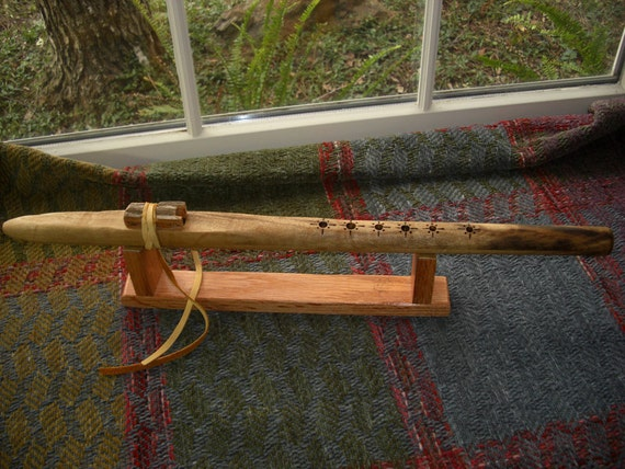Myrtlewood Native Style flute in F-sharp Minor