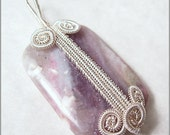 Woven Front Pendant Wire Wrapping Tutorial