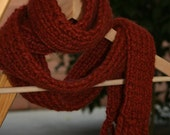 FREE SHIPPING - Knit Skinny Scarf - Spice