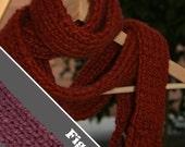 FREE SHIPPING - Knit Skinny Scarf - Fig