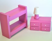 """Waldorf Toy - Wooden toy, Bunkbed Bedroom Set / Custom for 2"""" Peg Doll"""