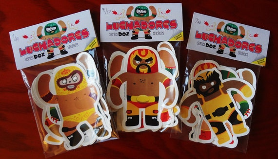 Mask Wrestler Stickers : Limited Edition