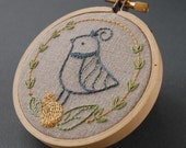 Embroidery Patterns, FESTIVE FLOCK Holiday hand embroidery patterns, DIY Holiday Embroidery Patterns, Bird patterns, digital download