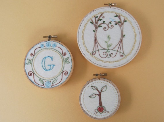 Seedling Trio Embroidery Patterns