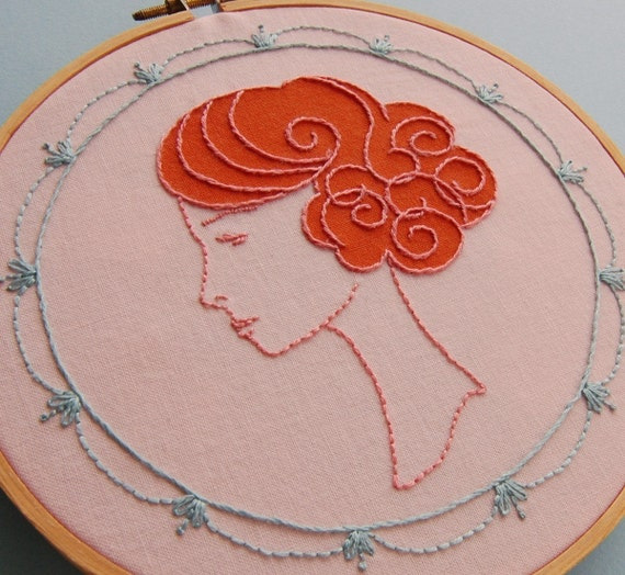 Wig Wonderful Embroidery Pattern Set with Applique Templates
