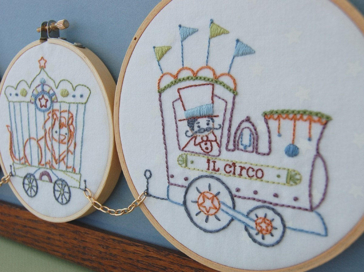 Embroidery patterns il circo hand vintage