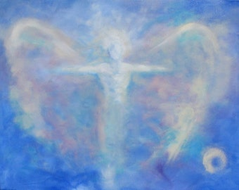 Commissioned Acrylic Painting of YOUR Guardian Angel 8x10