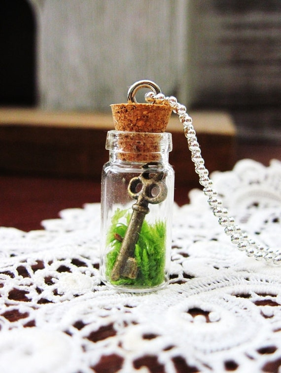 Terrarium Necklace: You Hold The Key To My Heart