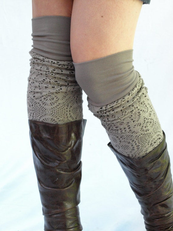Moka bamboo knit  leg warmers