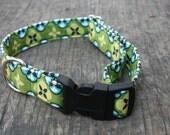 Tortoise Plaid Eco Friendly Dog Collar