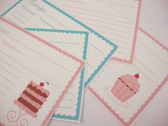 printable recipe cards 4 x 6 editable pdf