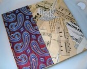 UPCYCLED ART JOURNAL RED PAISLEY SILK 100 PLUS PAGES OF EPHEMERA AND GOODIES