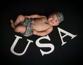 US Army ACU Baby Cap and Diaper Cover Set