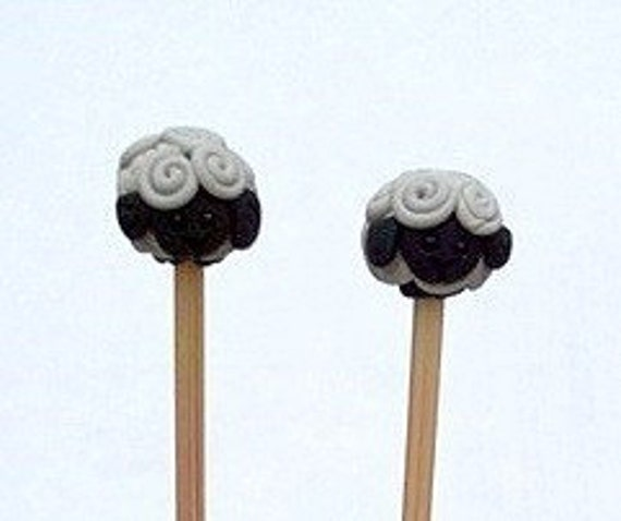Sheep Bamboo Knitting Needles Available in sizes US1-US15