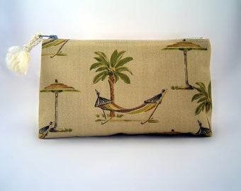 Handmade Zippered Pouch Upholstery Fabric