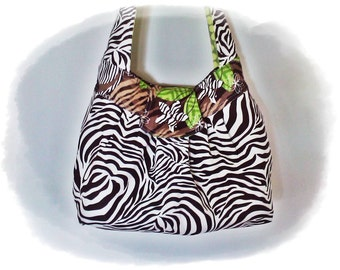 FREE Ship USA Canada - J Castle Sassy Sling created with Dark Brown Animal Print Designer Fabric - - - (Ready to Ship)