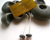 Funky Lake Superior Zen BASALT Stone Dangle Earrings