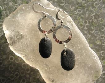 Lake Superior Zen Stone Dangle Earrings