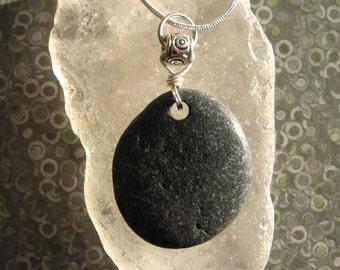 Lake Superior Basalt Zen Stone Pendant Necklace