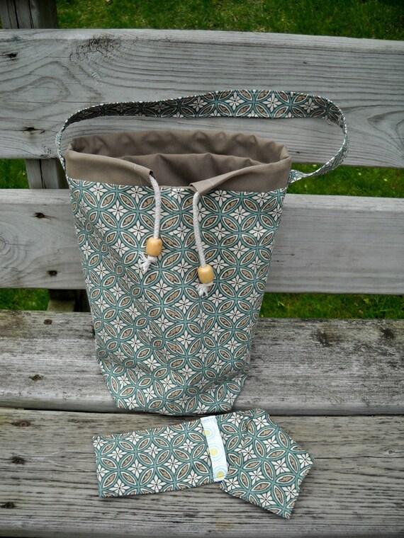 Upholstery Weight Knitting Bag, Crochet Bag, Sock Knitting Bag, DPN Case, Zipper Compartment, Lined, Padded, Pockets