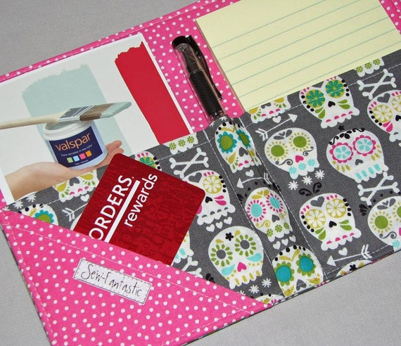 List taker - Mini Shopper - Notepad Clutch - BONEHEAD