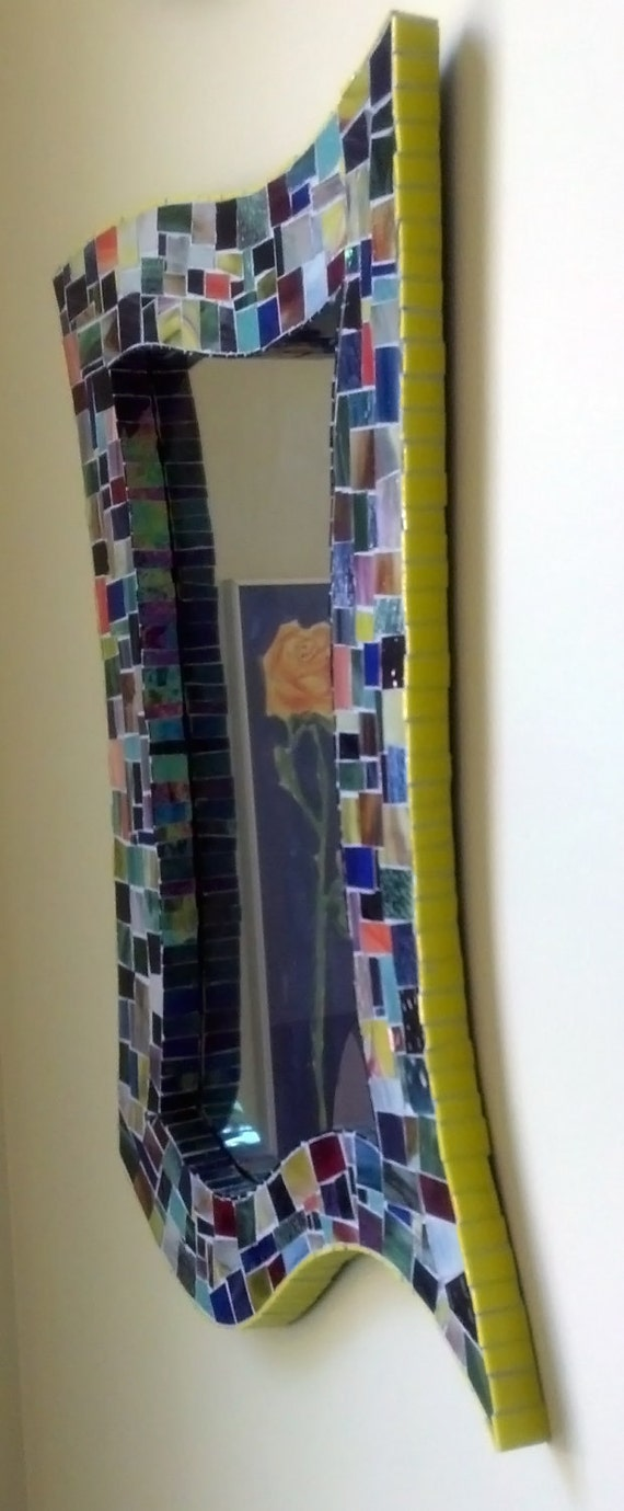 Stained Glass Mosaic Mirror  in Classic Multicolor Style